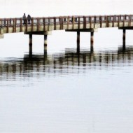 boardwalk reflections