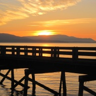 sunset boardwalk