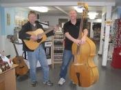 """Papa"" and friend at Papa's Sweet Shop, Bellingham, WA"
