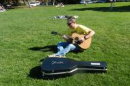 guitar-playing in the park