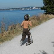 Kai on his scooter