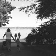 Megan and son at Boulevard Park
