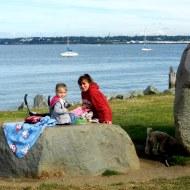 Savannah and Jody picnic at the park