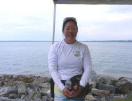 Jill of the Bellingham Bay Outrigger Paddlers