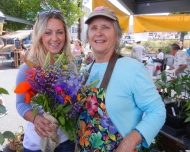 Amanda and Mary Ann at the Farmer's Market