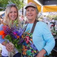 Amanda and Mary Ann at the Farmer's Market