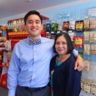 Daniel and his mom on WWU's graduation day