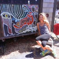 Jodee and her art (2)