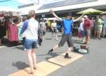 tap-dancing at Bellingham Farmer's Market