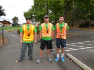 Russ, Brandon, and Eric helping at the Alzheimer Walk
