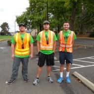 Russ, Brandon, and Eric helping at the Alzheimer Walk