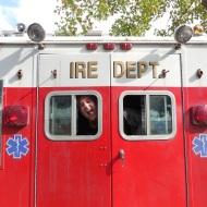Matt Keller in his Ire Truck