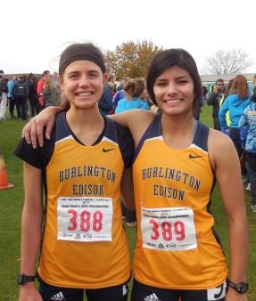 Seniors Raynjoy and Christina ran their last high school race