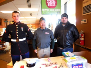 Mark, Matthew, and Nathan collecting Toys for Tots