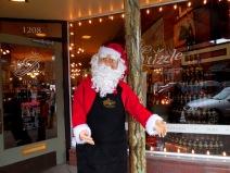 Santa outside Paper Dreams