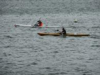 kayak racers