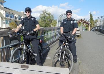 Bellingham's Men In Blue on bikes