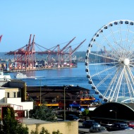view of Seattle from Pike Place Market