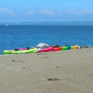 colorful kayaks at Boulevard Park