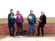 Lesley, Beth, Karen, Laura - the Calux Singers