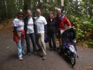 Tracy and her team walking for children in China