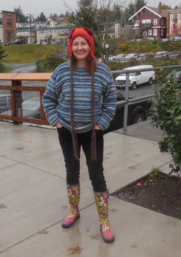 Nancy Leshinsky and the way cool hat she made