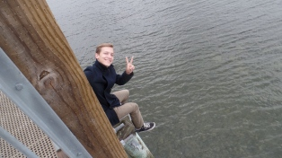 Keegan on the boardwalk