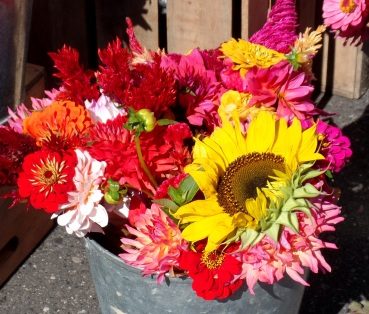 flowers at Farmers Market - photo by Karen Molenaar Terrell