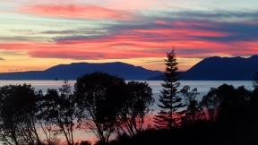 Sunset from the Chuckanut Manor (photo by Karen Molenaar Terrell)