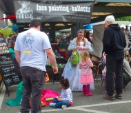 Balloon Princess at the Bellingham Farmers Market
