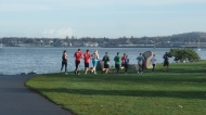 Exercising in Boulevard Park