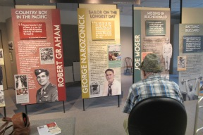 Dad in the WW2 exhibit