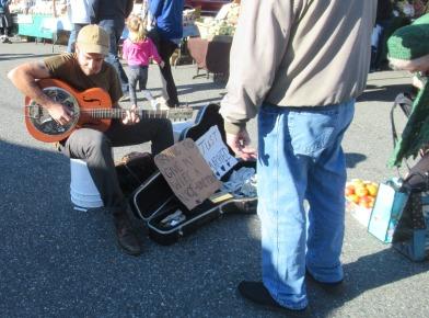 Musician at Farmers Market