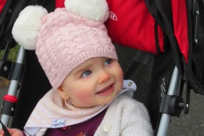 Baby Edin in her Hat with Ears