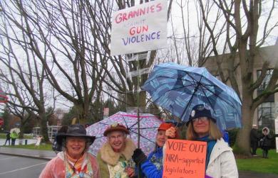 Grannies march