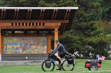 New Zealand biking across america