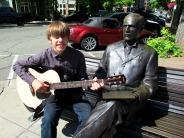Sam and His Guitar in Bellingham.